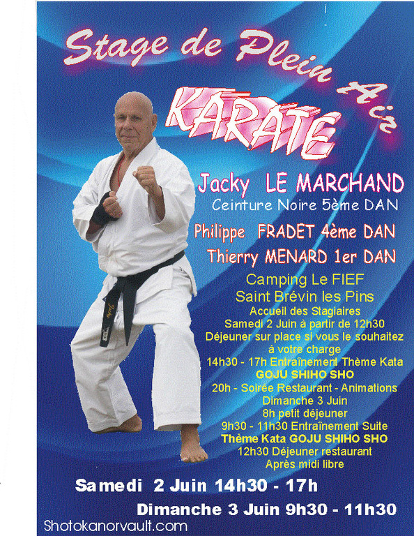 Stage club : Shotokan karate club ORVAULT